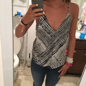 Black and white leopard tank top. Brand new!